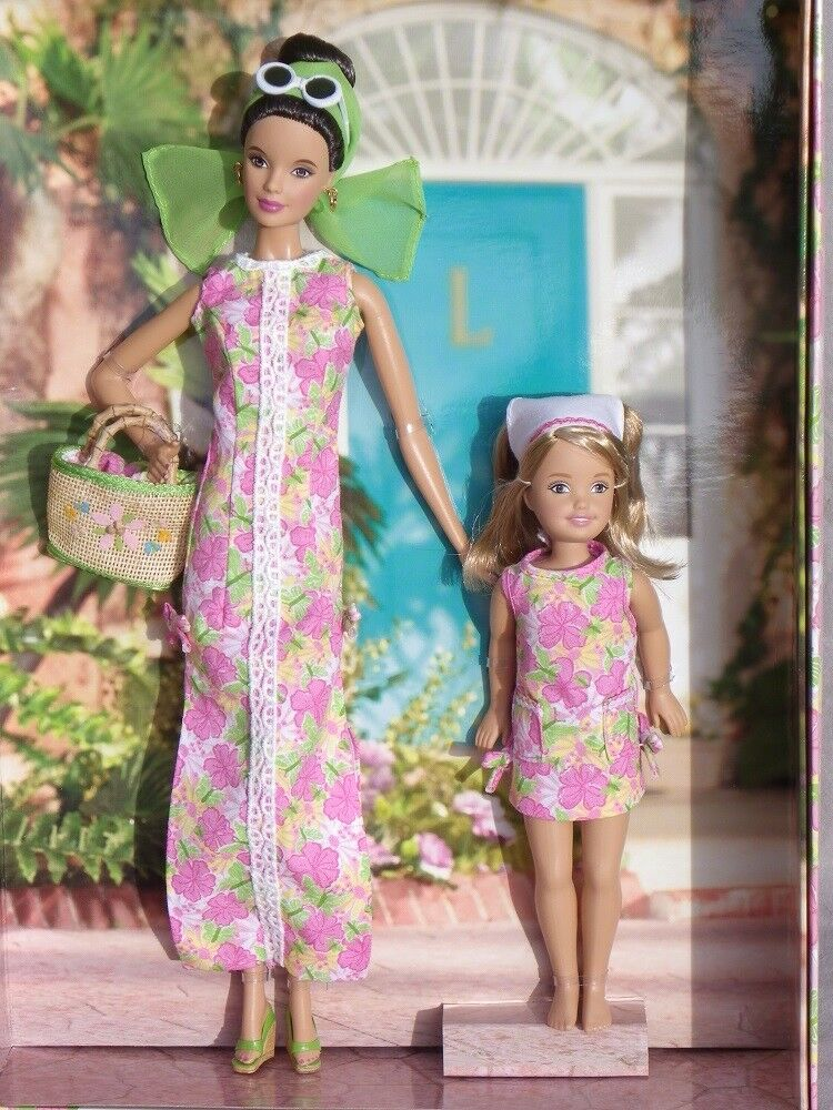 Barbie Barbie Barbie LILLY PULITZER & Stacie her daughter collector 2005 Mattel H0187 poupée 1a30d9
