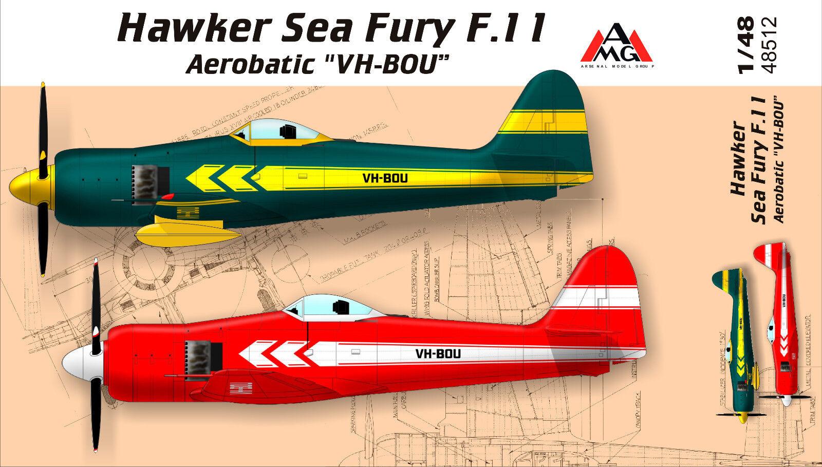 AMG Models - 48512 - Hawker Sea Fury F.11 Aerobatic  VH-BOU  - 1 48     NEW