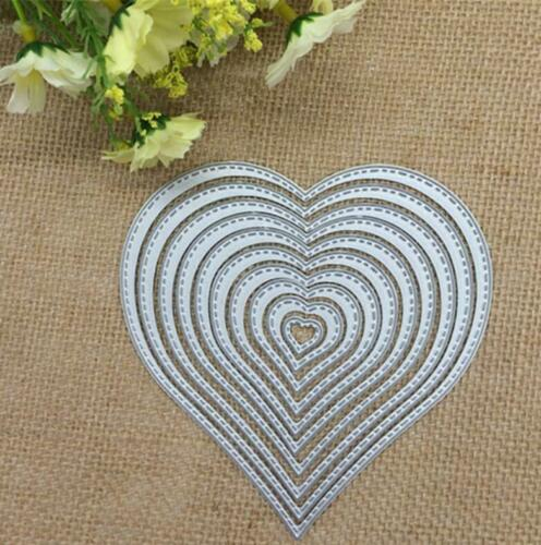 Love Heart Shapes Metal Cutting Dies Photo Album Card Embossing Stencil Crafts