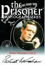 THE PRISONER SERIES 2 AUTOGRAPH FACSIMILE CARD PA1 PATRICK MCGOOHAN