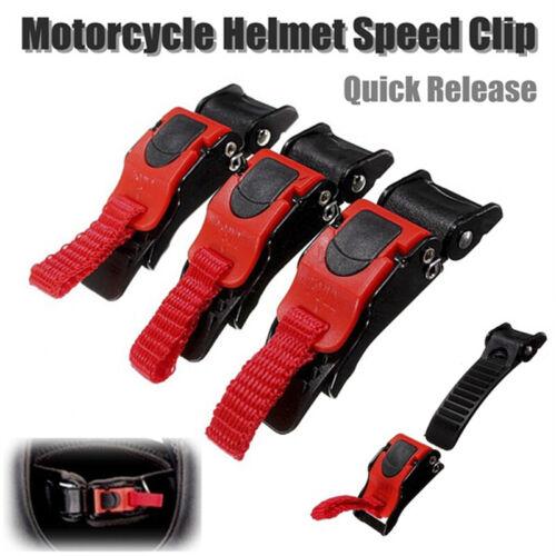 3PCS Quick Release Buckle Motorcycle Bike ATV Helmet Chin Strap Speed Clip