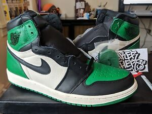 de068d0b636201 Nike Air Jordan Retro I 1 High OG Pine Green Black Sail White Men's ...