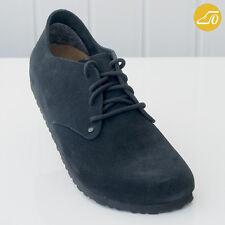Birkenstock Maine Black Suede Shoes Sz 10