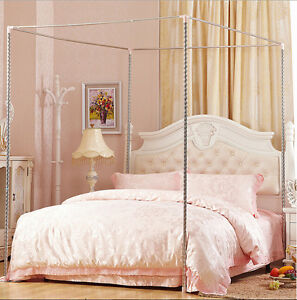 Stainless Steel Mosquito Netting Canopy Bed Frame Single Double King