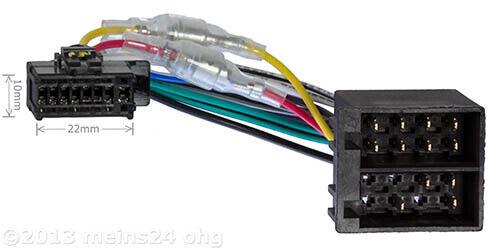 PIONEER radio ISO adaptador cable SD DEH 3300 UB 4300 6300 6200 BT 7300 8300 9300