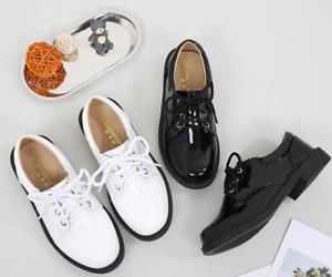 online store 0b4a2 edd55 Details zu Neue Kinder Jungen Schuhe Schwarz Lackleder Schulschuhe Hochzeit  Schuhe