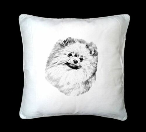 Pomeranian Dog Printed Design Faux Silk//Suede Cushion Cover by paws2print