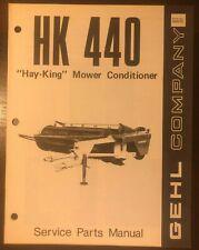 Gehl Hk 440 Hay King Mower Conditioner Service Parts Manual Form No 620275