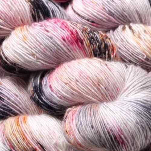 merino wool yarn :Skinny Singles Film Noir: Hedgehog Fibres