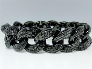 Image Is Loading Mens 21 Mm L Black On Diamond