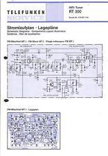 Telefunken Original Service Schaltplan für RT 300