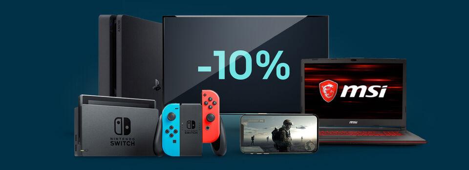 10%-Gutschein* für Gamer – Game on - 10%-Gutschein* für Gamer