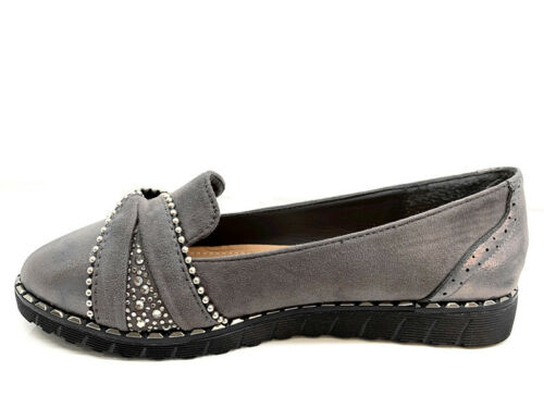 NEW WOMENS LADIES FLATS PUMPS SOFT COMFY WORK PLATFROM BOAT LOAFERS SHOES