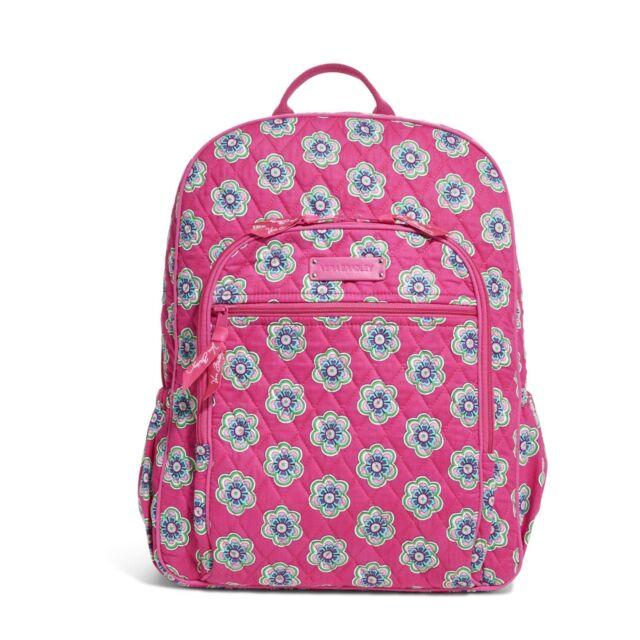 Vera Bradley Campus Backpack School Book Bag Pink Swirls Flowers 14457 198 e2937c2c22