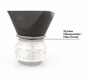 Original Metall Gegenlichtblende für Altix + EXA Tessar 2,8/50 + 2,9/50