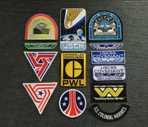 Alien USCSS Nostromo Covenant and Aliens iron on patch Collection 13 piece pack
