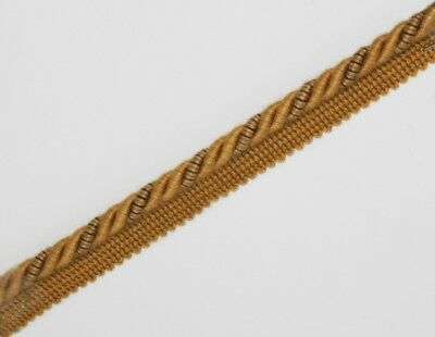 FLANGED BINDING//PIPING 8 MM CORD,TERRACOTTA PL-4231 GOLD X 2 //5// 10  MTRS