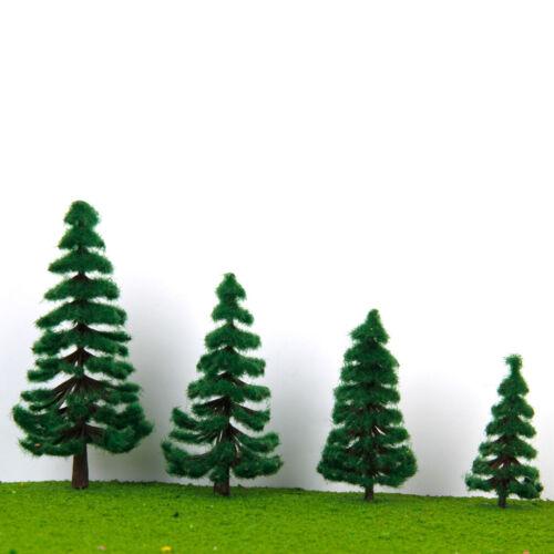 16pcs 2,36 Zoll   4,72 Zoll Landschaft Landschaftsmodell Bäume