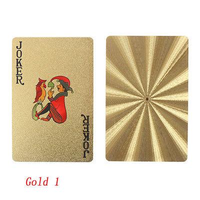 Film de poker en plastique d'or de tisonnier de jeu de cartes jouant