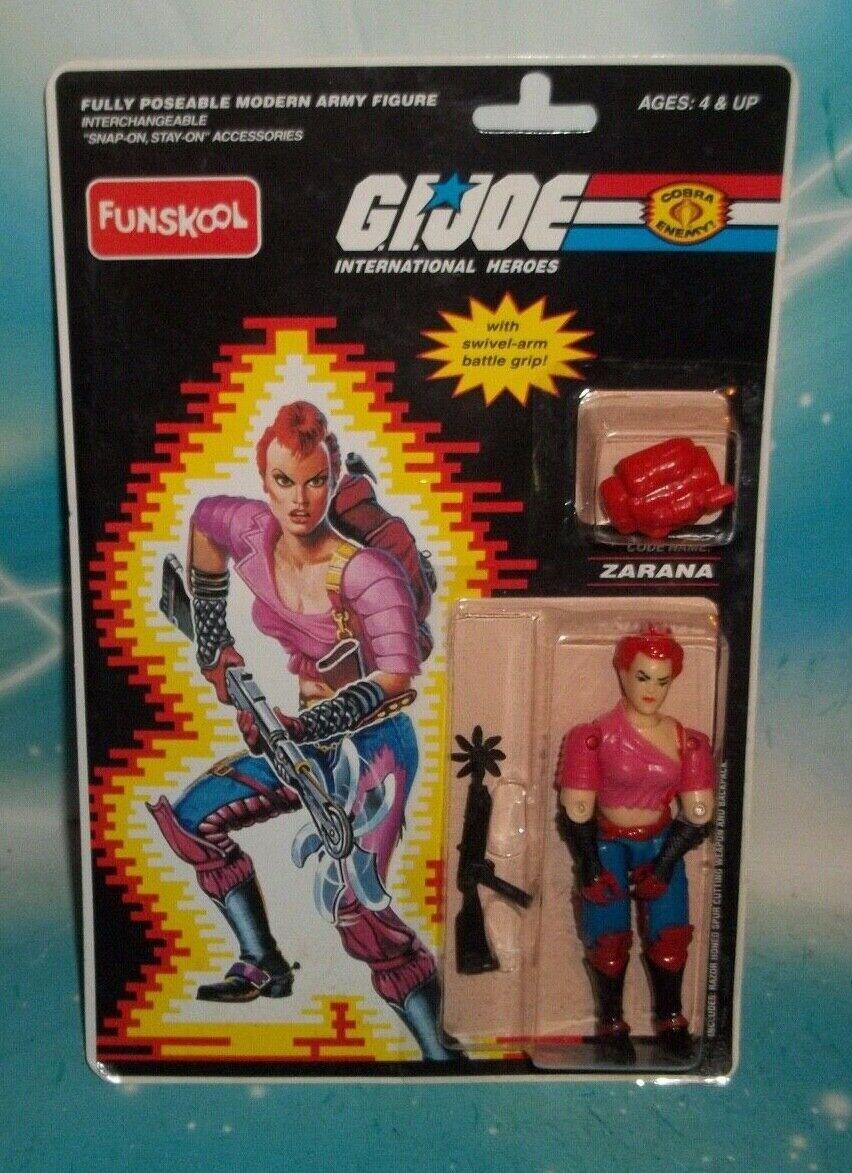 G I Gi Joe Cobra enemigo Dreadnok Zarana figura Moc India Funskool