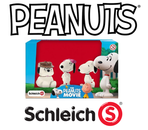 Schleich-Peanuts-Snoopy-amp-His-Siblings-3-Figures-Box-New-Orig