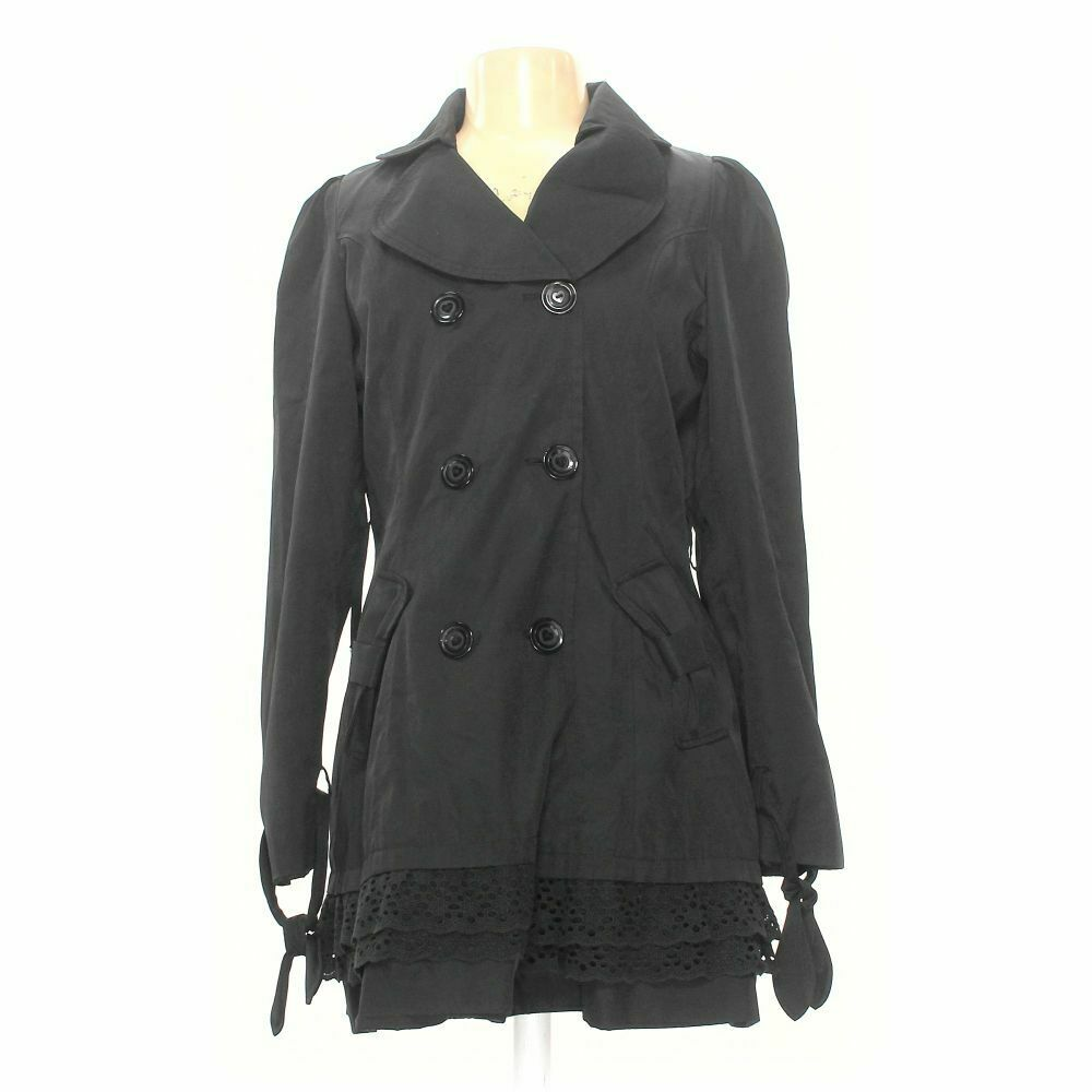 Betsey Johnson Women's Coat size L, grey, cotton, polyester, good condition