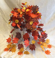 Fall Maple Leaves Bush Greenery Silk Wedding Flowers Bouquets Centerpieces Ivy