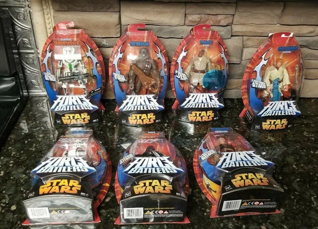 Star Wars Force Battlers set av 7-figurer Grievous Chewbacca Vader Anakin Kenobi