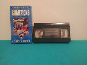 Les-champions-de-la-coupe-stanley-1993-VHS-tape-amp-sleeve-FRENCH-NHL