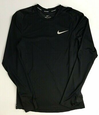 Nike Homme Running Top Shirt à Manches Longues Miler Noir Taille S XL RRP £ 27.95 | eBay