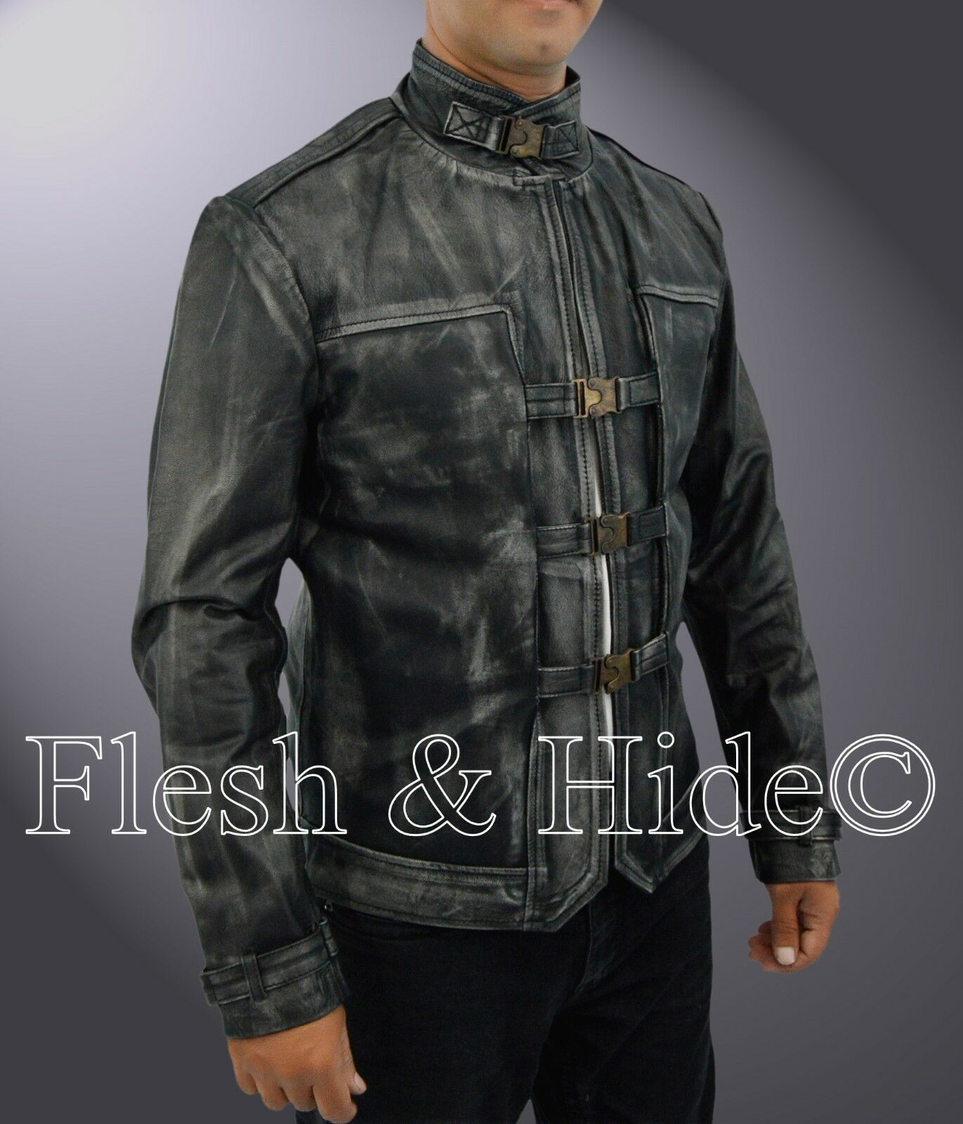 Genuine Cowhide Leder DishonoROT Death of the Outsider The Outsider Coat