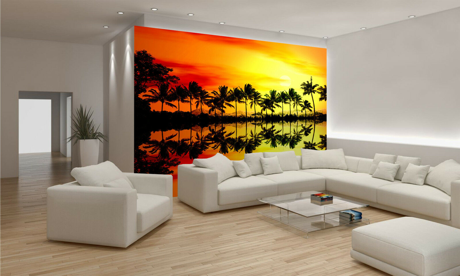 Tropical Palm Trees Wall Mural Photo Wallpaper GIANT WALL DECAL PAPER POSTER