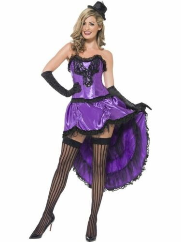 Ladies Burlesque Costume Adults Can Can Fancy Dress Womens 1920s Showgirl Outfit