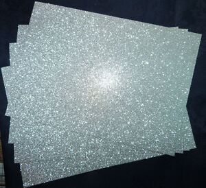10-x-Glitter-Card-Sheets-A6-C6-250gsm-Card-Sparkling-Silver-14-8-x-10-5cm-SMALL
