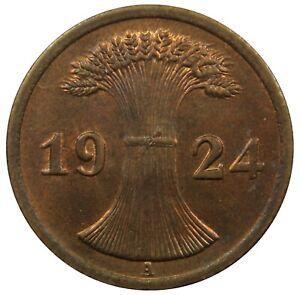 (c32) - Deutschland Germany Weimarer Republik - 2, 5 Rentenpfennig 1924 Perfekte Verarbeitung