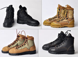 1//6 Scale Male Combat Boots Hollow Leather Shoes Model F 12/'/' Action Figure