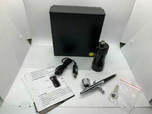 Cosscci Black 2-3 Times Portable Mini Brush Spray With Compressor Airbrush Kit