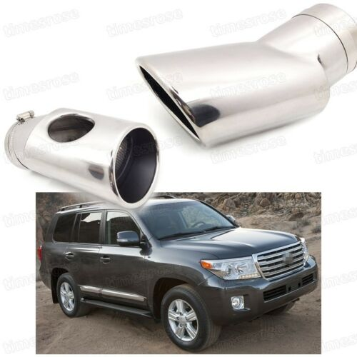 Car Exhaust Muffler Tip Tail Pipe Trim for Toyota Land Cruiser 2008-2016 #2025