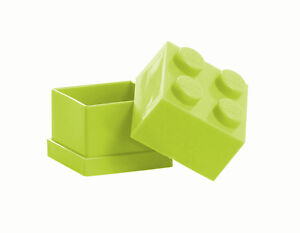 LEGO Storage MINI Snackbox 4 HELLGRÜN perfeckt in Brotdose Schule Lunchbox GREEN