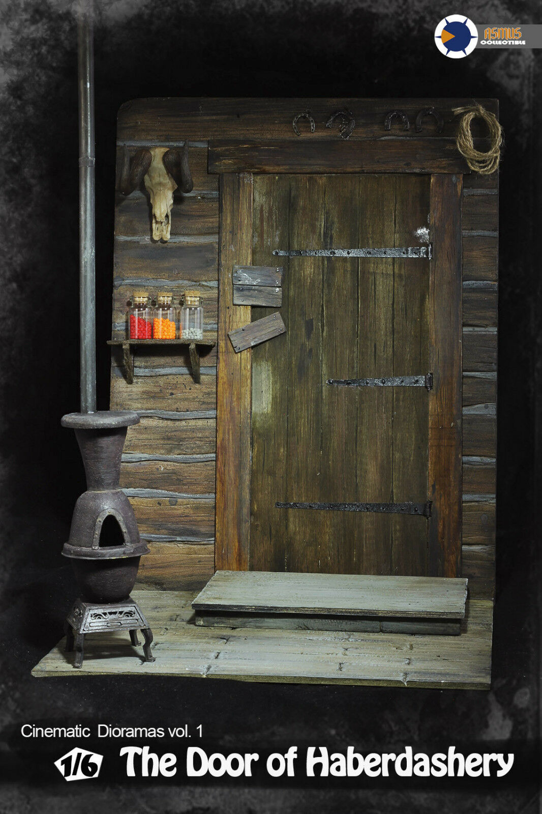 1 6 Cinematic Diorama The Door of Haberdashery 1 6 Figure base  Asmus Toys  CD00