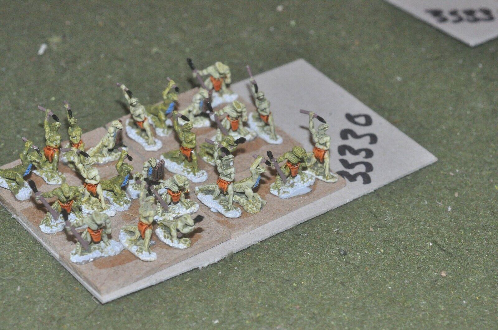 15mm fantasy   lizards - warriors 24 figures - inf (35330)