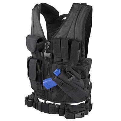 CONDOR Black CVXL X-Draw MOLLE Tactical OPS Rig Vest Magazine Gun Pouch XL/XXL