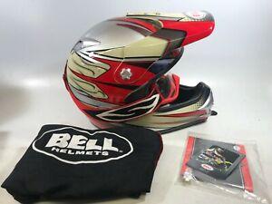 Bell-SC-X-DOT-Full-Face-Off-Road-Motorcycle-Helmet-XS-Snell-M2000-Has-Crack