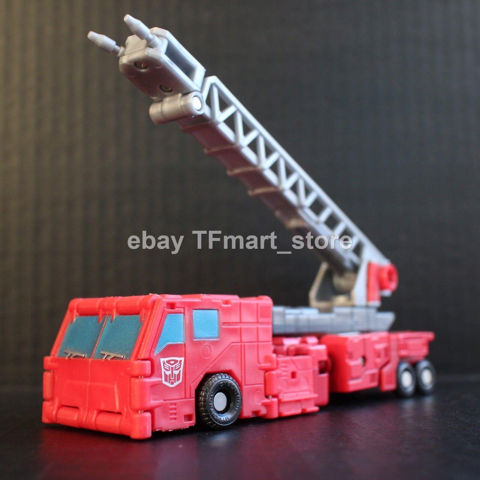 Transformers Titanio 6  Serie de Metal Fire Convoy Optimus Prime By Hasbro