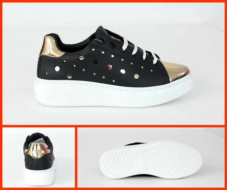 NU2 zapatos/zapatillas mujer ALICE-C206 col. negro/ORO verano 2017