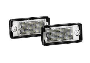2x Top LED SMD Kennzeichenbeleuchtung Audi A4 8ED B7 Avant 3.0 TDI quattro (CB)