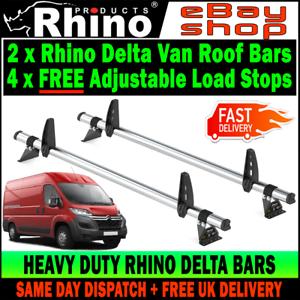 HIGH-H2 Citroen Relay Roof Rack Bars x2 Rhino Delta /& Load Guards 2006-2019 Van