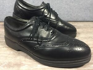 Red Wing Shoes Black Leather Wingtip Steel Toe Work Mens Us 7 5 Ee