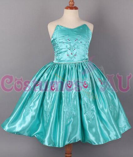 Girl Dress Disney Frozen Elsa Party Birthday Fancy Costume Dress