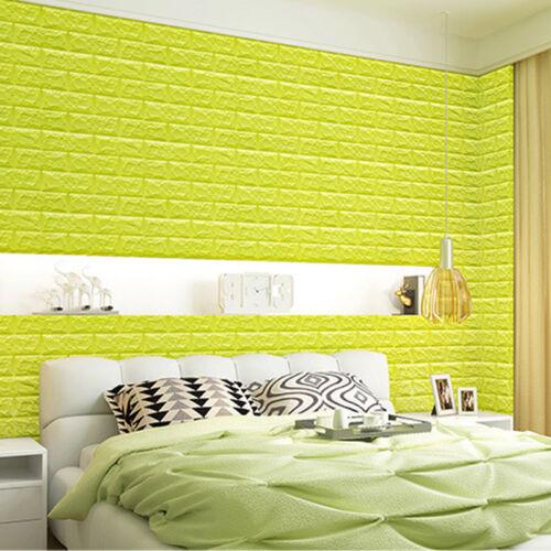 20pcs Self-Adhesive 3D PE Foam Brick Home Wall Sticker Wallpaper Panels Decor UK